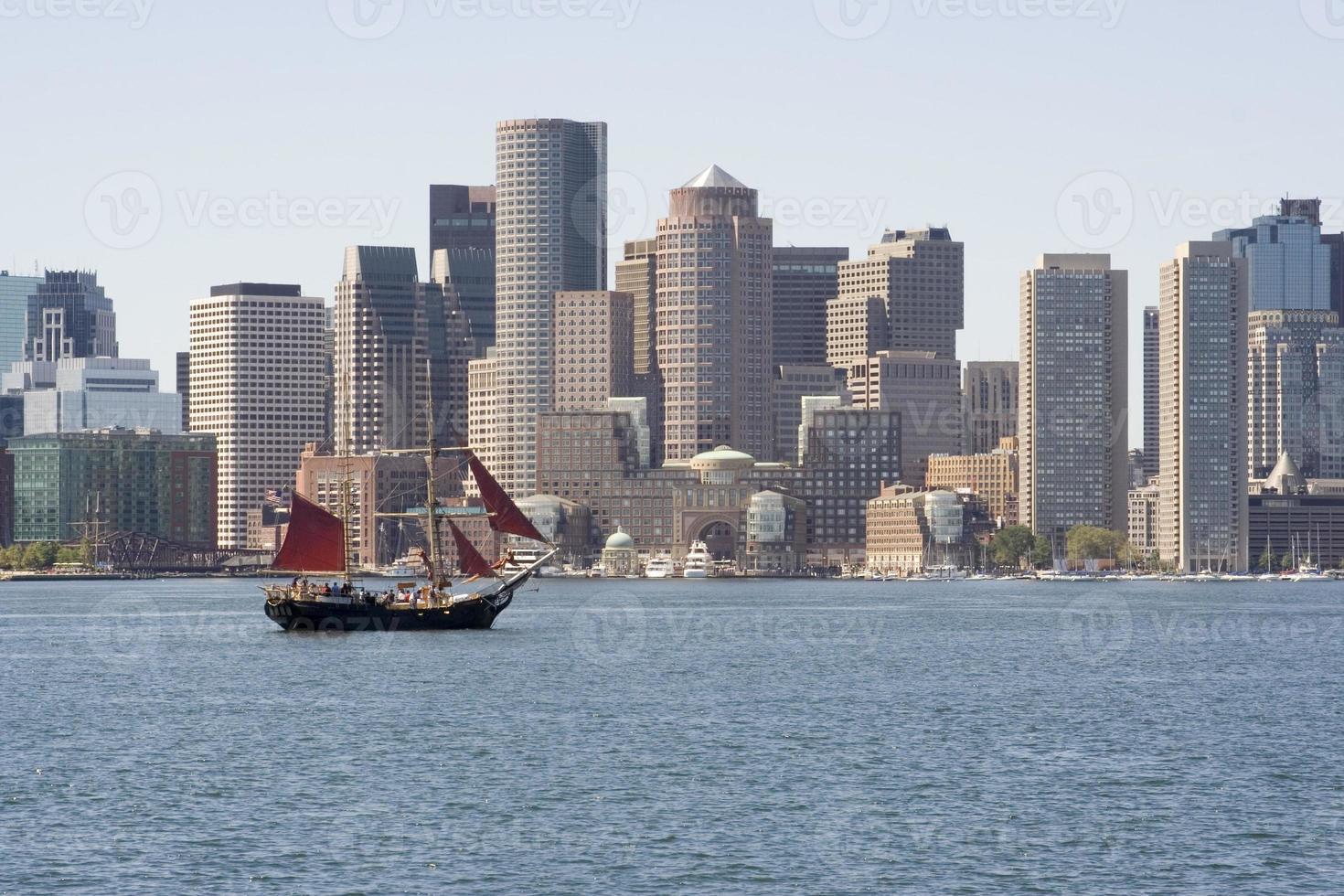 nave tagliatore nel porto di Boston foto