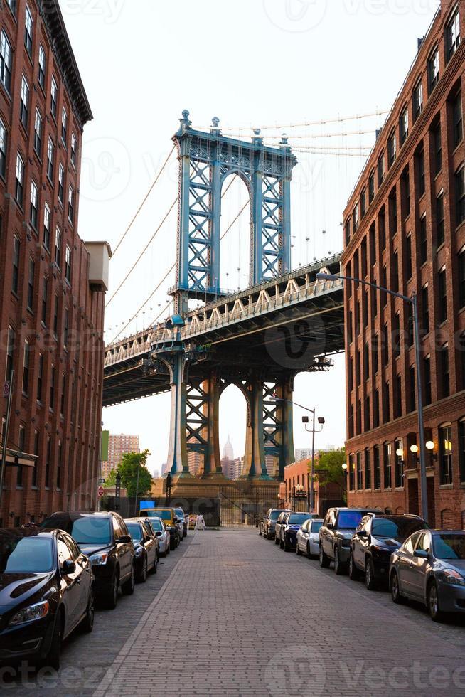 Manhattan Bridge New York New York da Brooklyn foto
