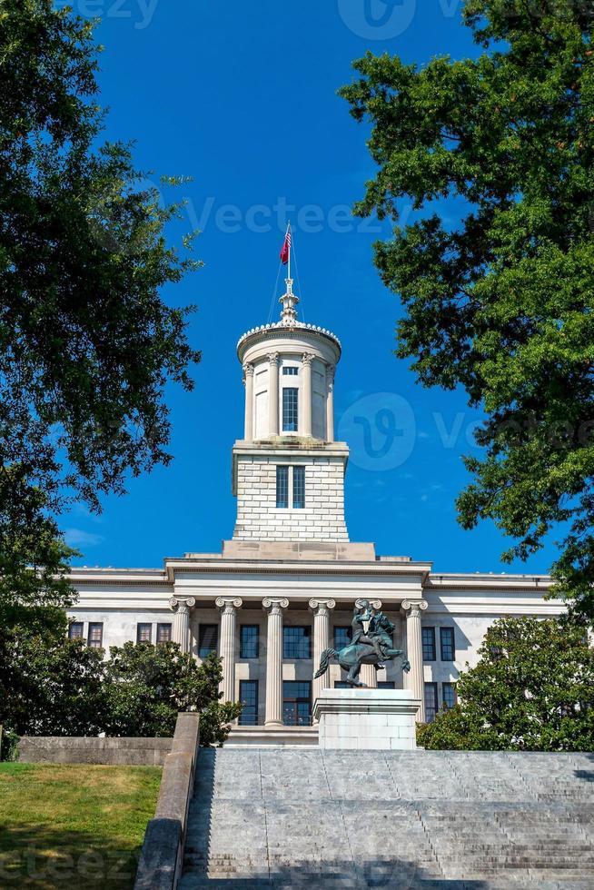 il Campidoglio del Tennessee, edificio nel centro di Nashville. foto