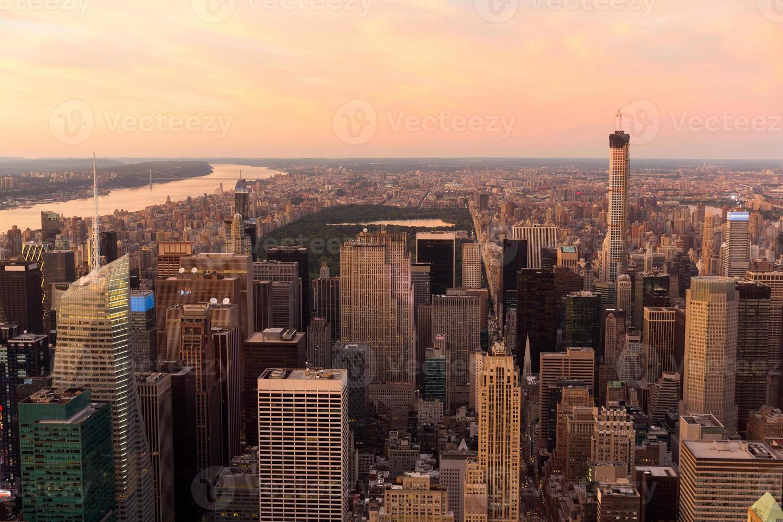 vista su central park a new york foto