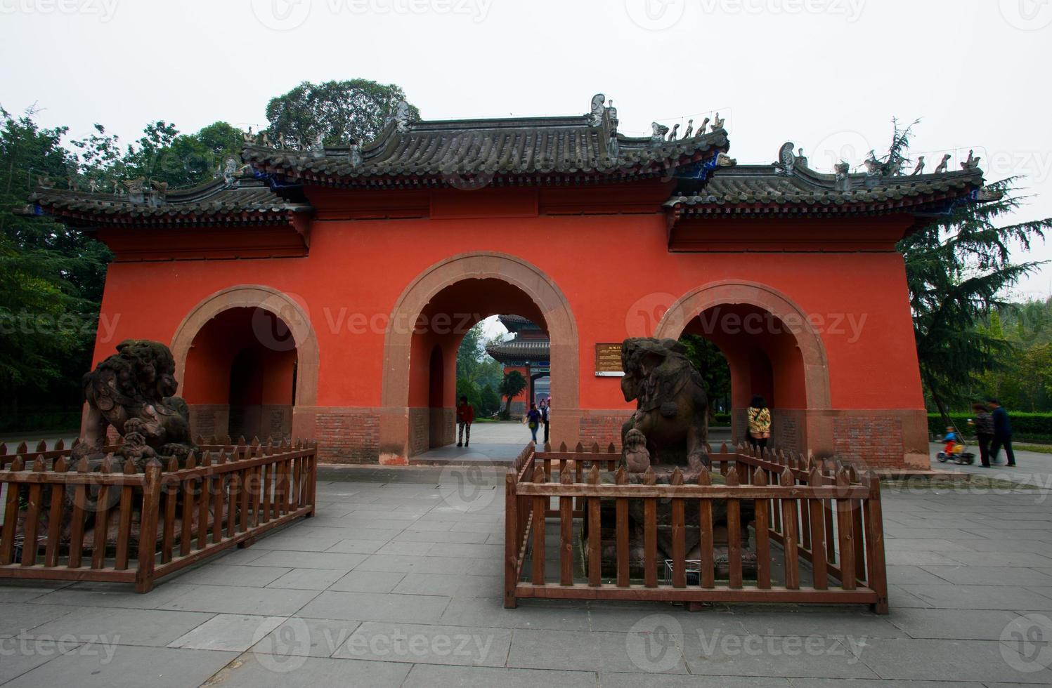 tempio di Chengdu Wuu, Cina foto