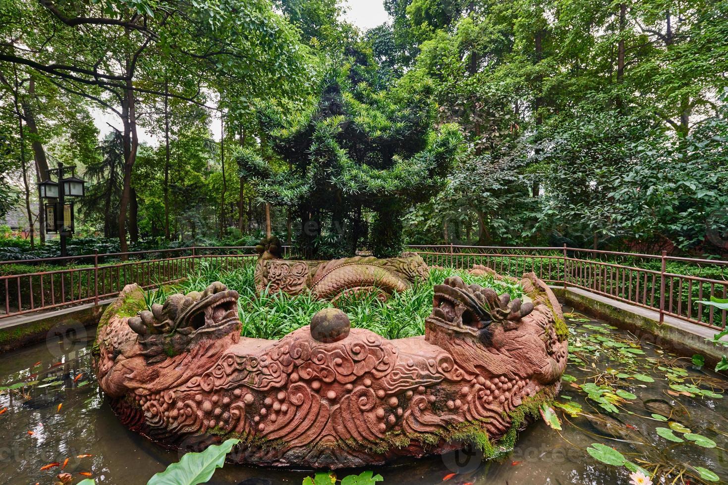 parco del monastero di Wenshu Chengdu Cina del Sichuan foto