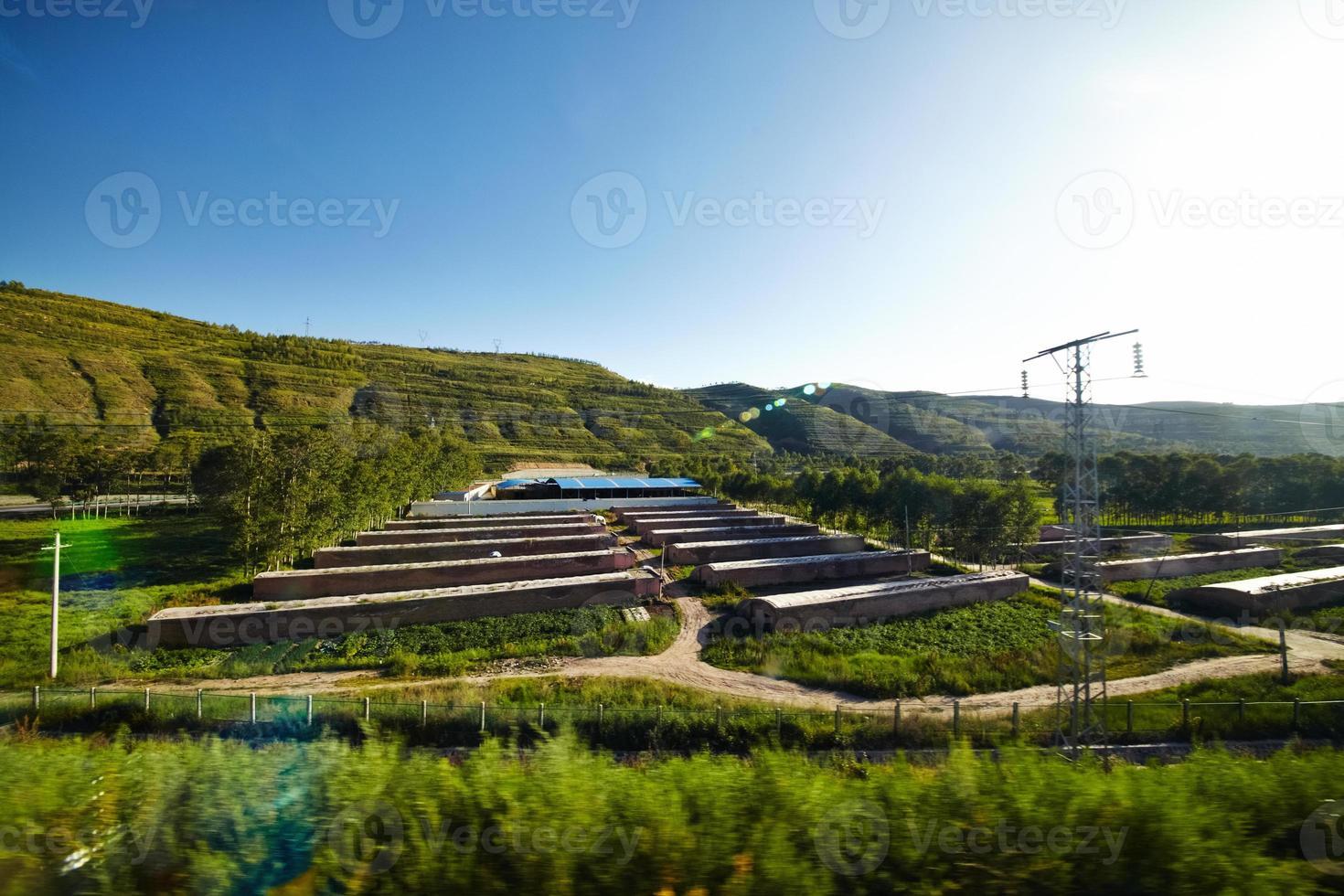 vista alla periferia della Cina foto