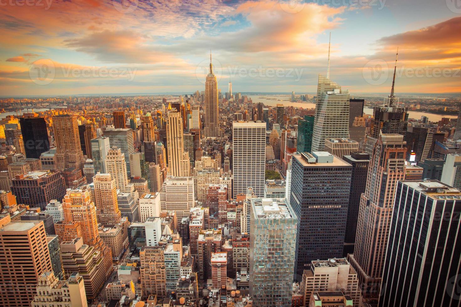 vista della città di new york foto