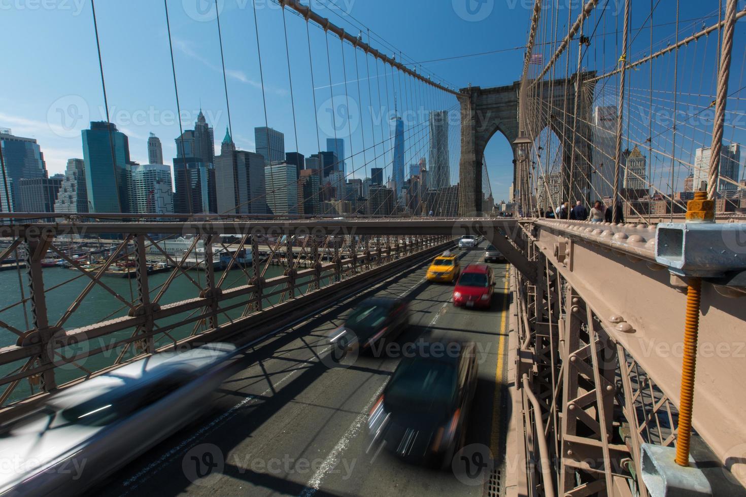 New York - ponte di Brooklyn foto