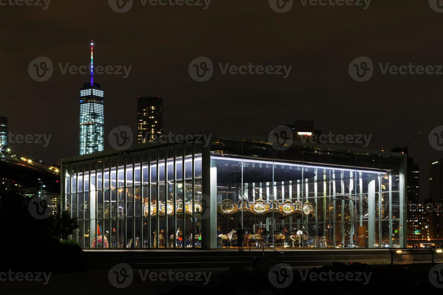 New York City di notte. foto
