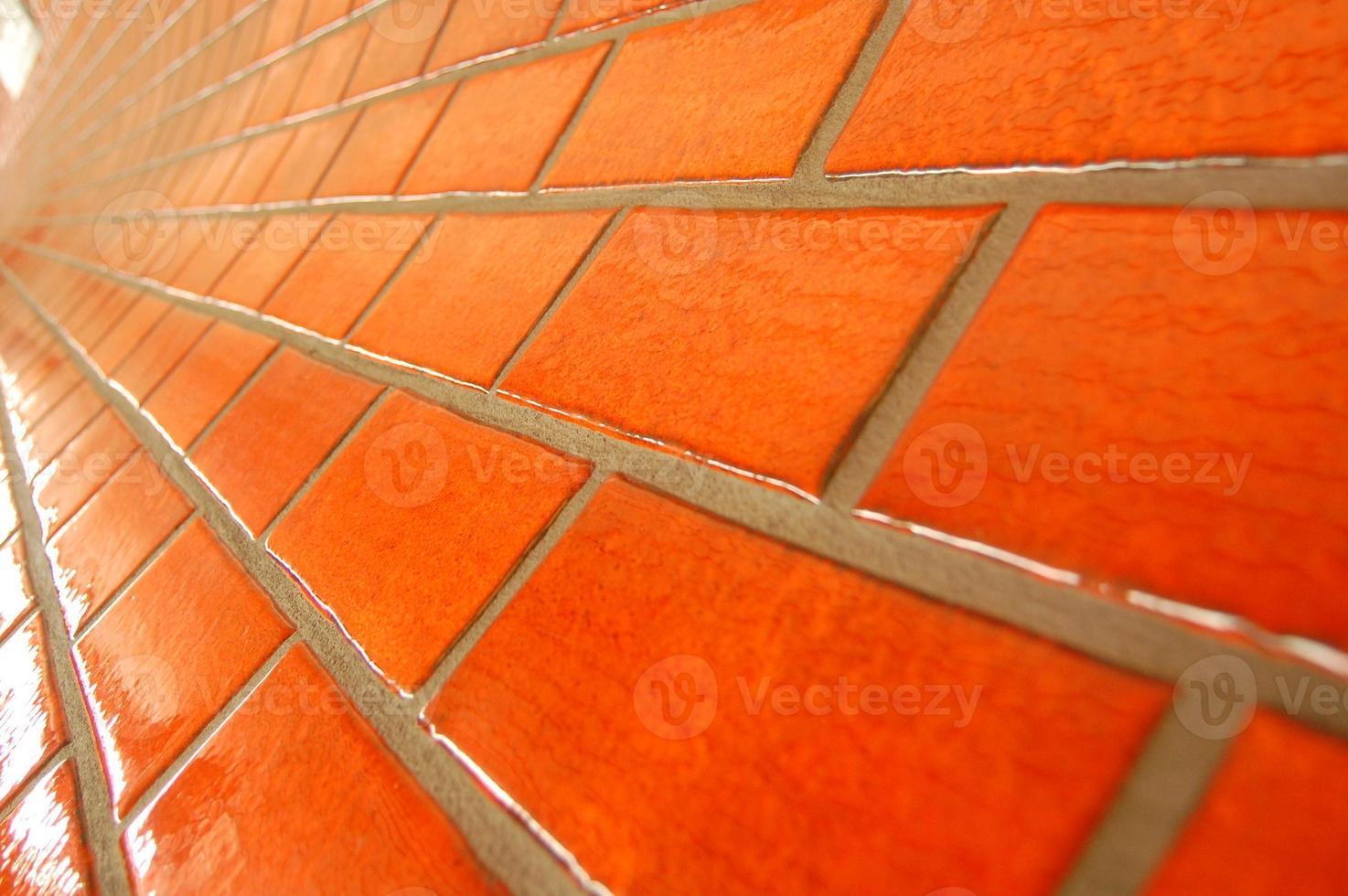 piastrelle della metropolitana arancione foto