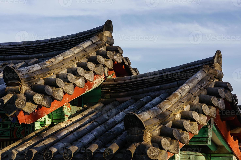tetto tradizionale coreano foto