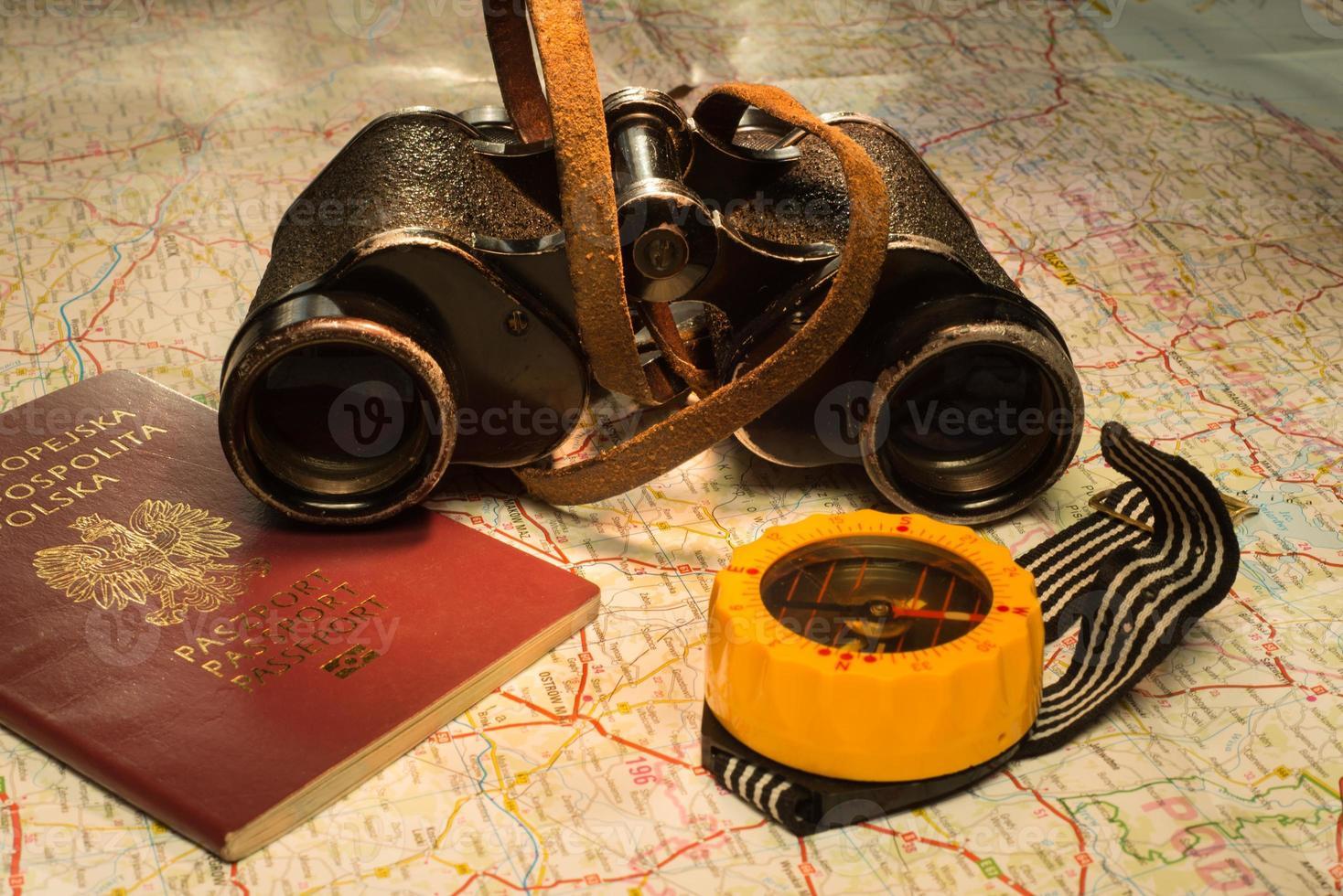 attrezzatura del viaggiatore foto