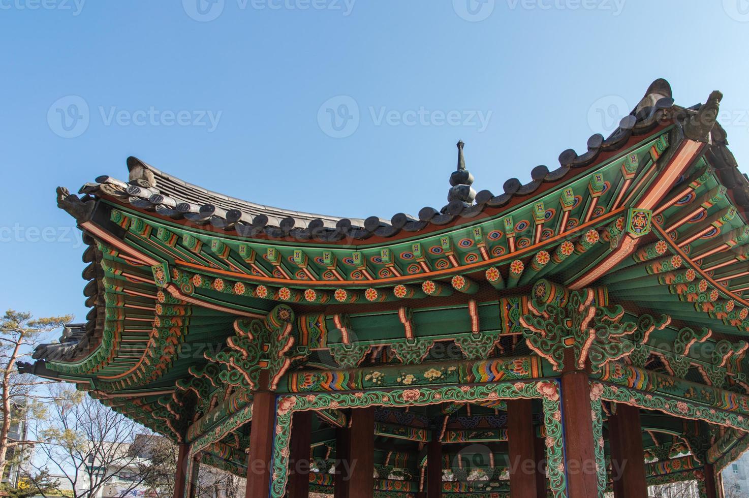 tetto del palazzo di changdeokgung foto