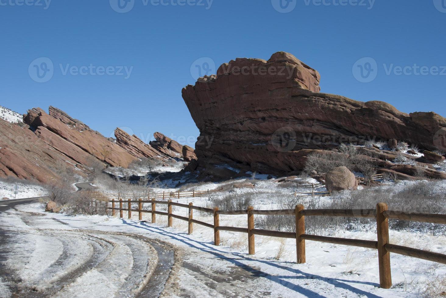 parco di rocce rosse colorado in inverno foto