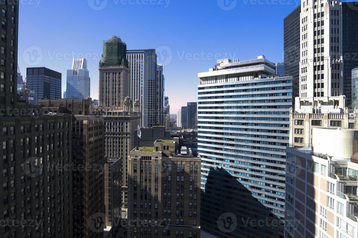 Chicago Skyline Club guardando a ovest foto