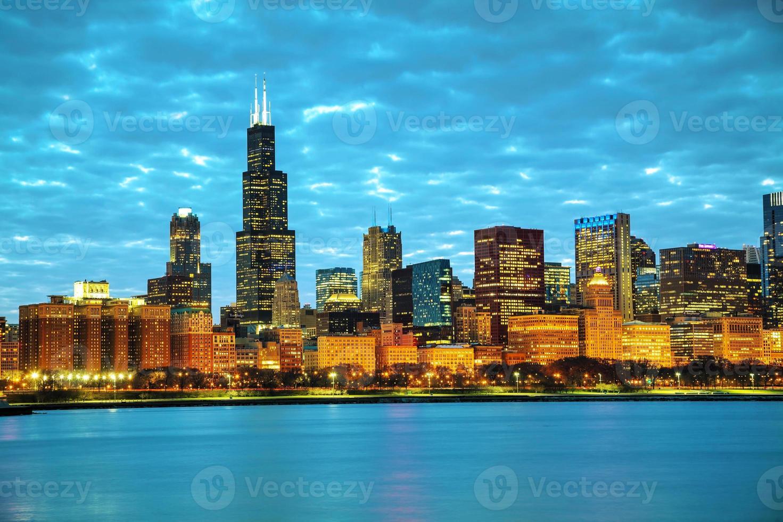 paesaggio urbano del centro di Chicago foto