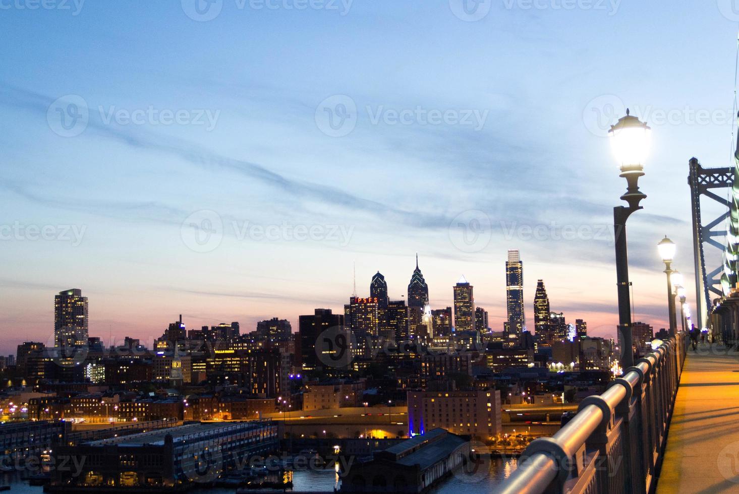 vista del centro di philadelphia foto