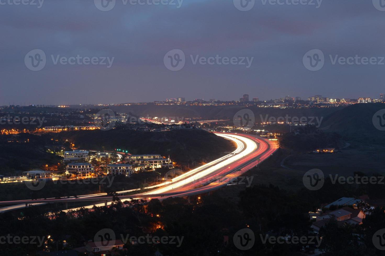 luci notturne foto