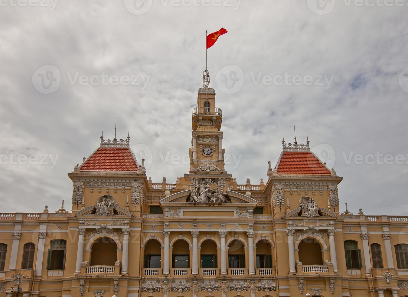 hotel de ville saigon (1908), ho chi minh city, vietnam foto