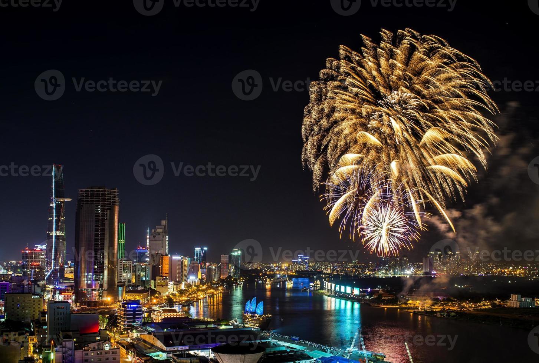 skyline della città di Ho Chi Minh foto