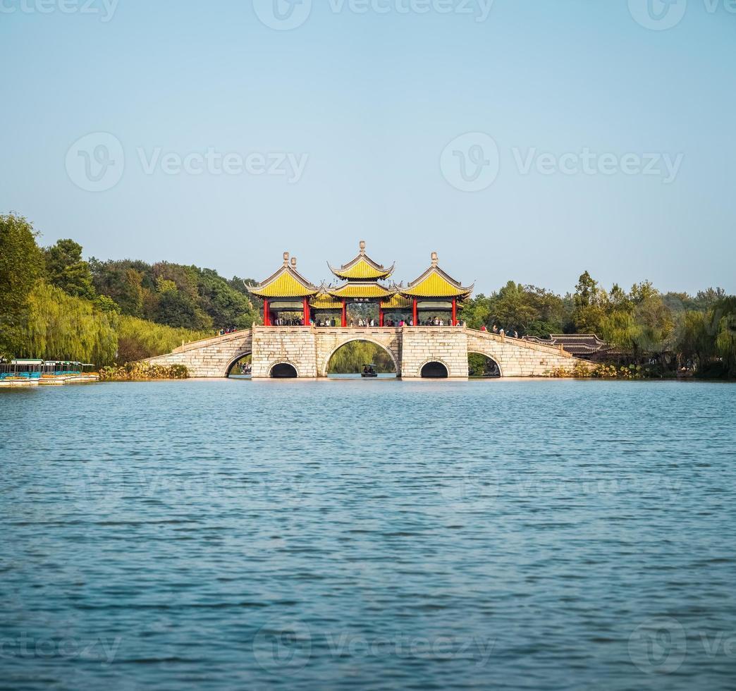 ponte del padiglione di Yangzhou cinque foto