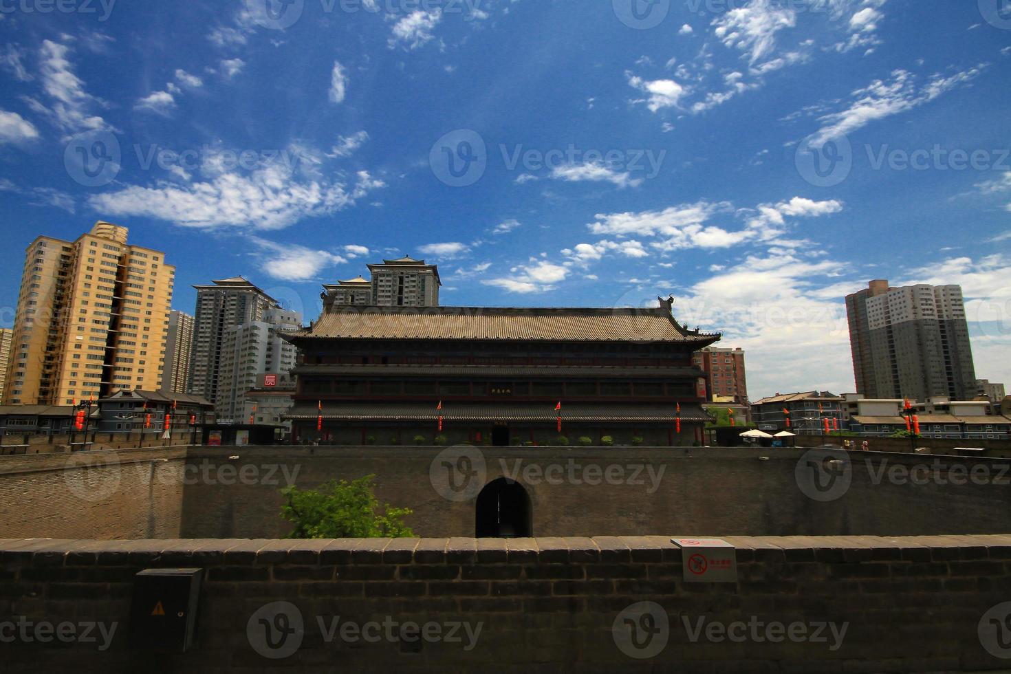 mura della città di Xi'an foto