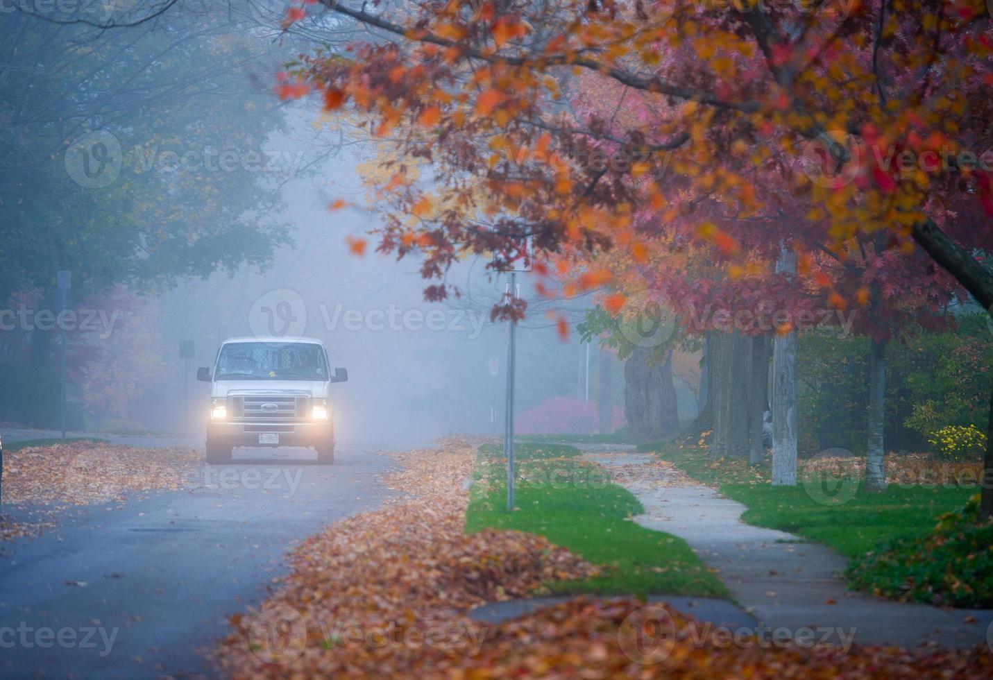 nebbia autunnale toronto foto