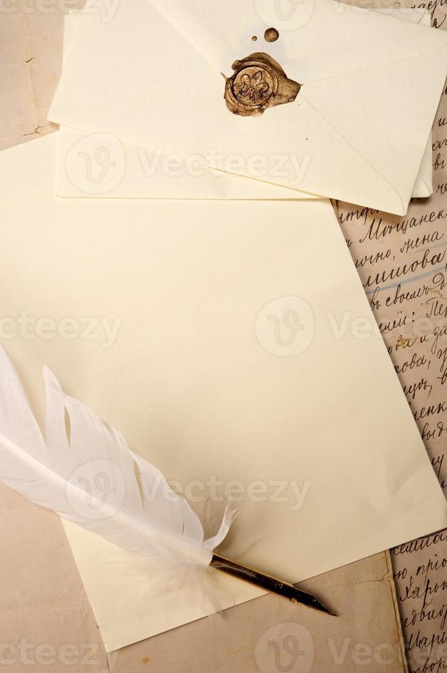 concetto di lettera vintage foto
