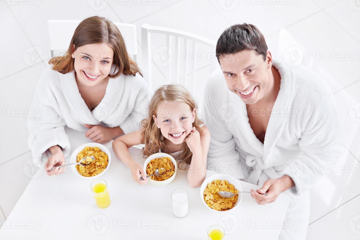 famiglia con bambino foto