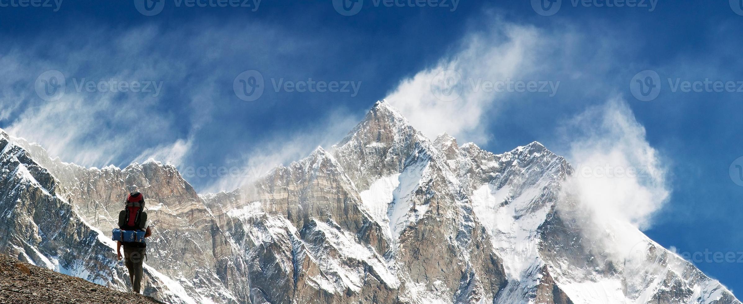 cima di lhotse e nuptse foto