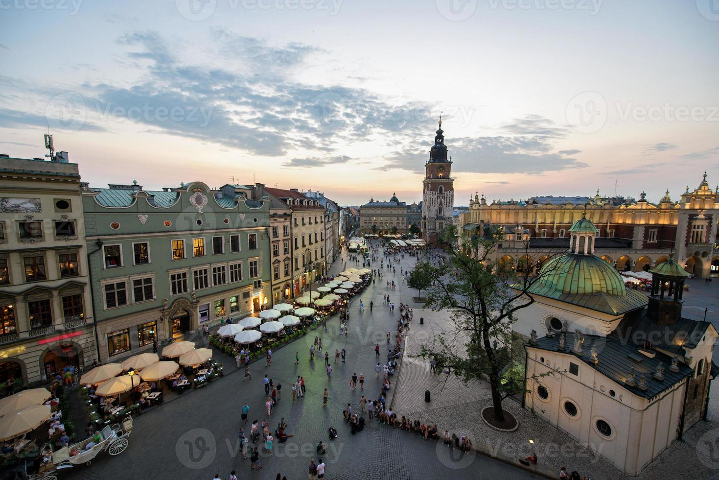 piazza del mercato di cracovia, polonia foto