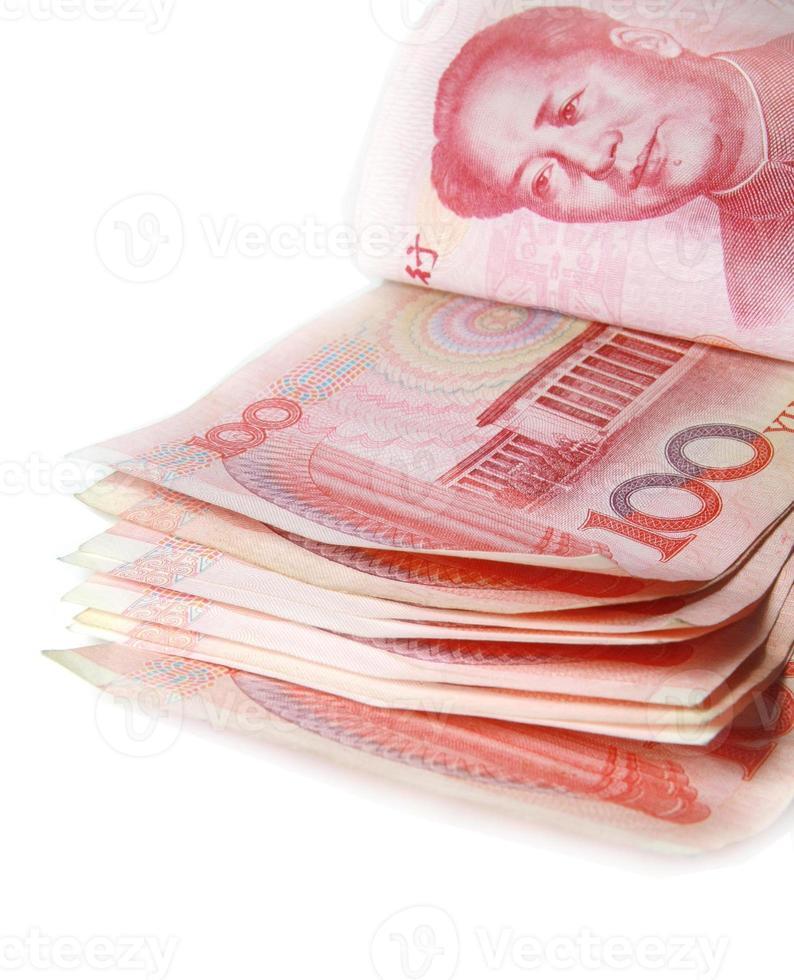 banconota rossa dei soldi della porcellana foto