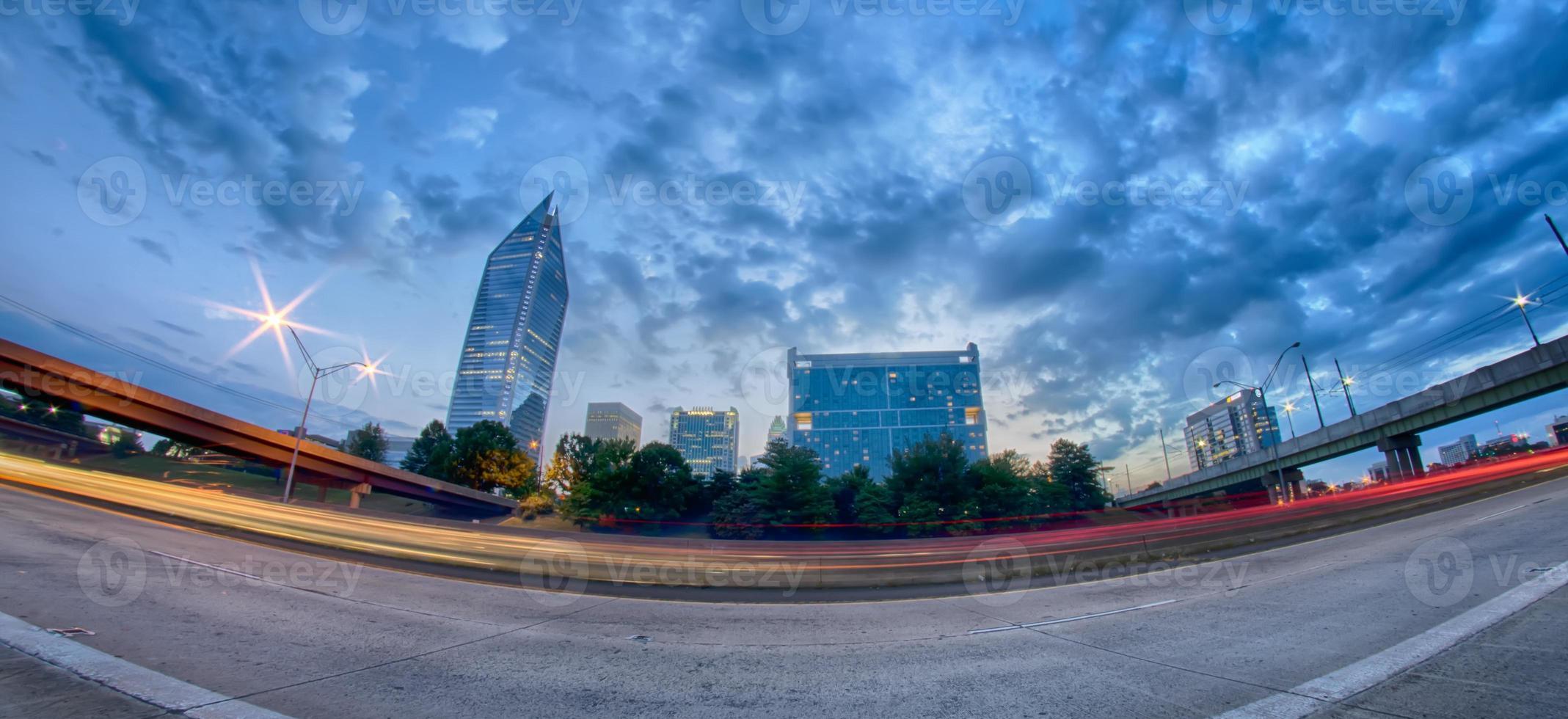 skyline di charlotte nrth carolina foto