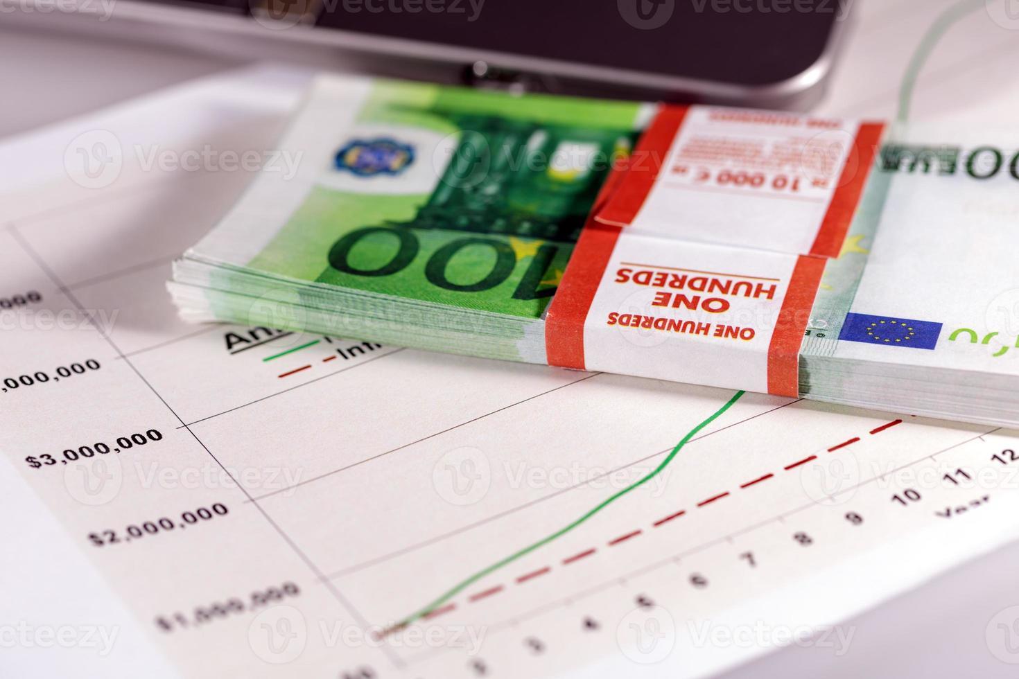 grafici, grafici, tabella di affari. foto