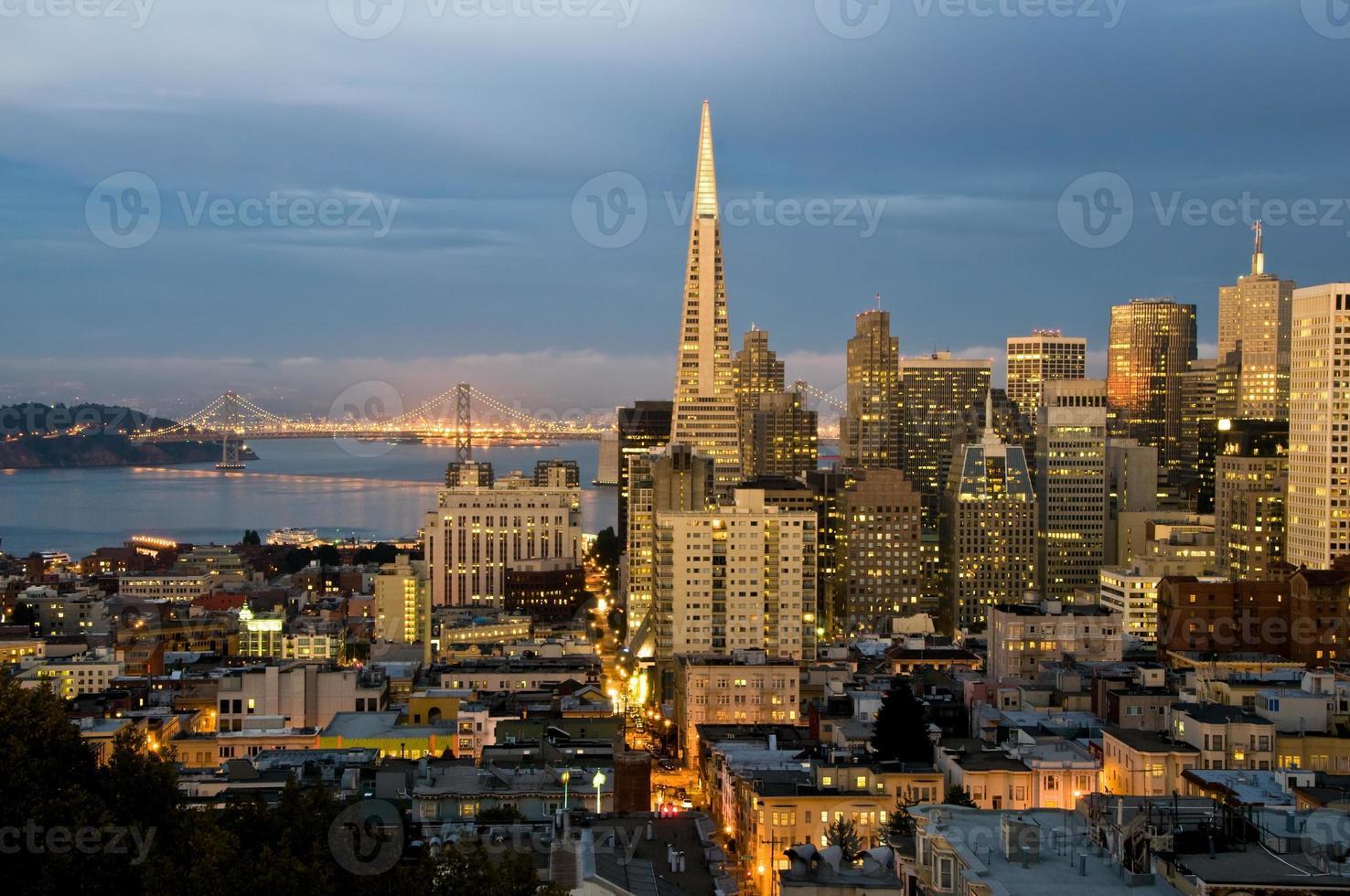 San Francisco al crepuscolo xl foto