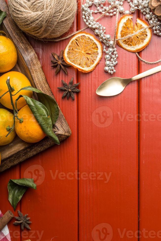 cornice di cibo di Natale foto