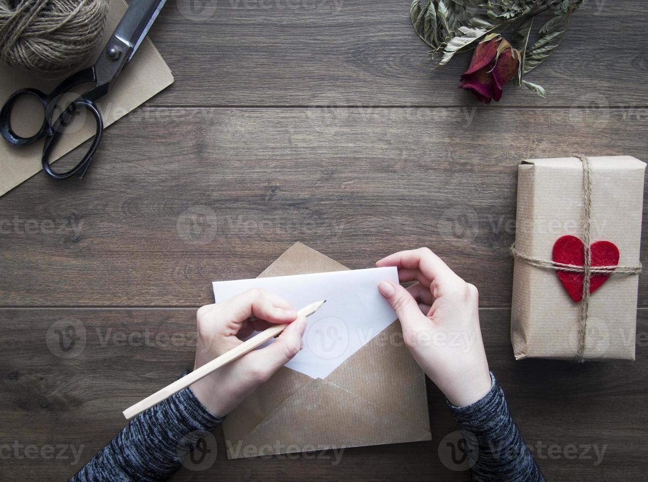 scrivere lettera d'amore foto