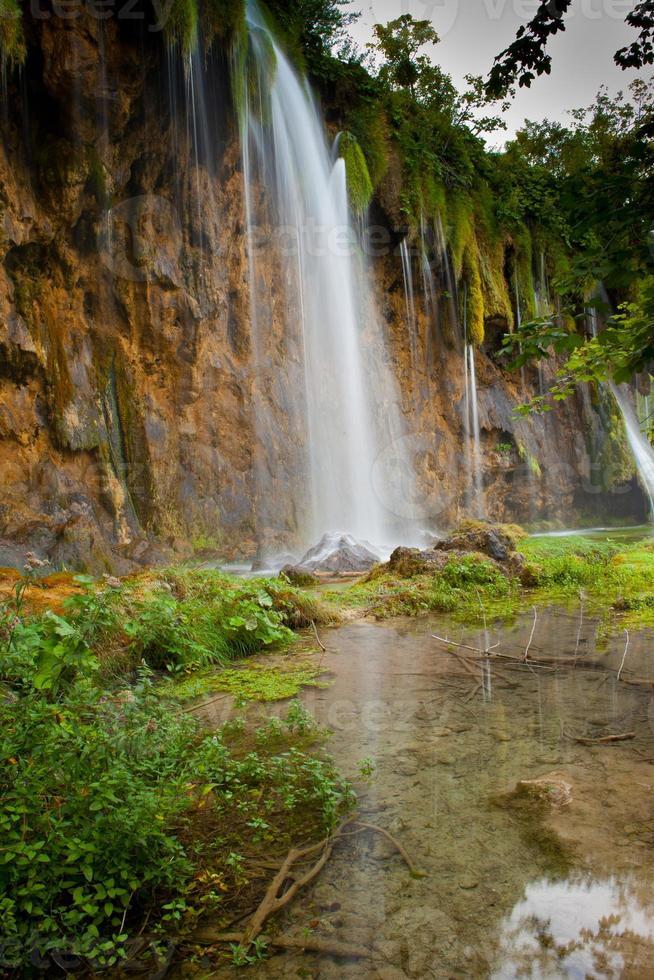 cascata nella foresta profonda foto