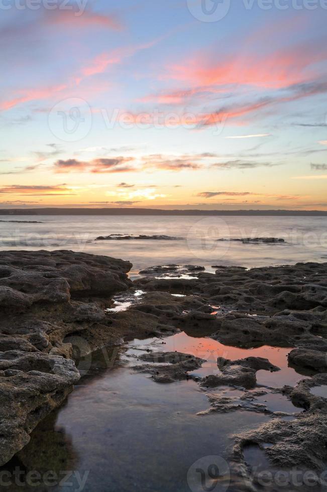 bellissimo tramonto murrays beach jervis bay foto