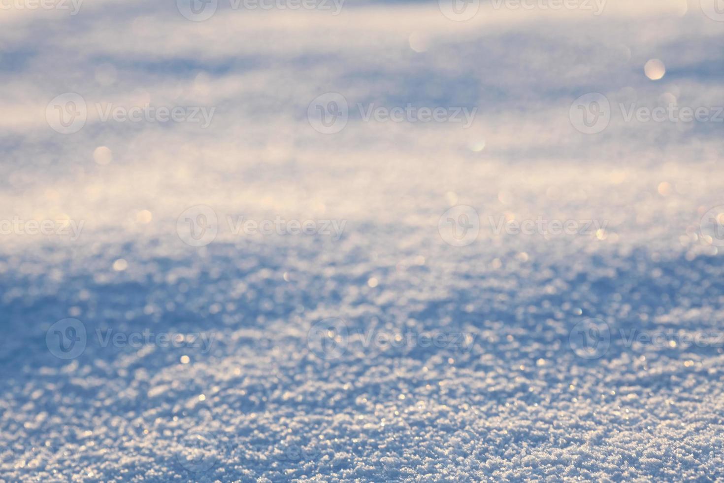 primo piano della superficie della neve foto