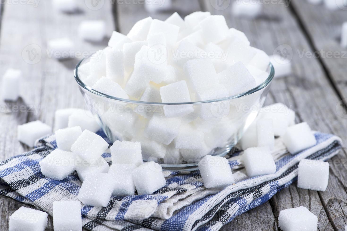 zucchero (ripresa ravvicinata) foto
