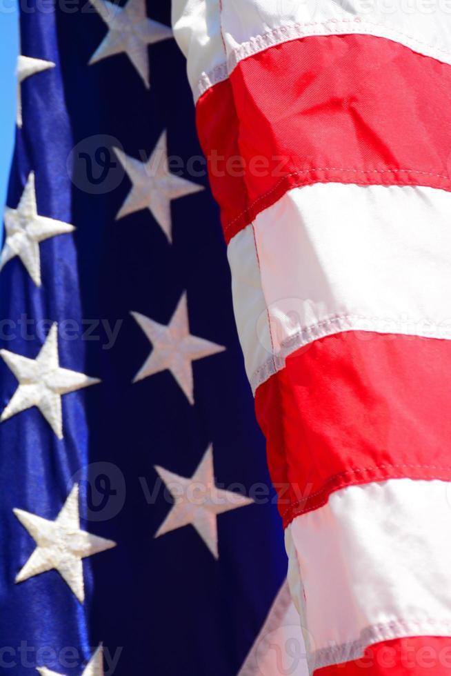 bandiera americana da vicino foto