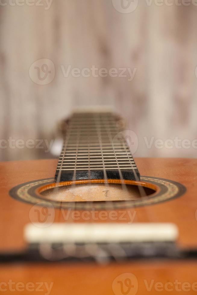 Close up chitarra acustica foto
