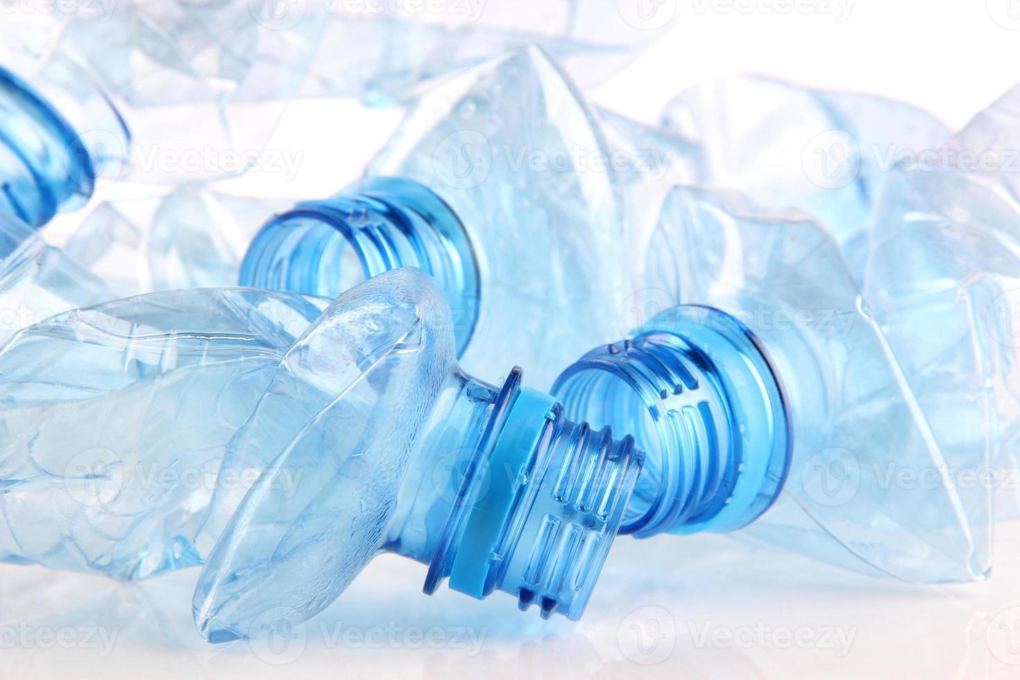 bottiglia di plastica da vicino foto