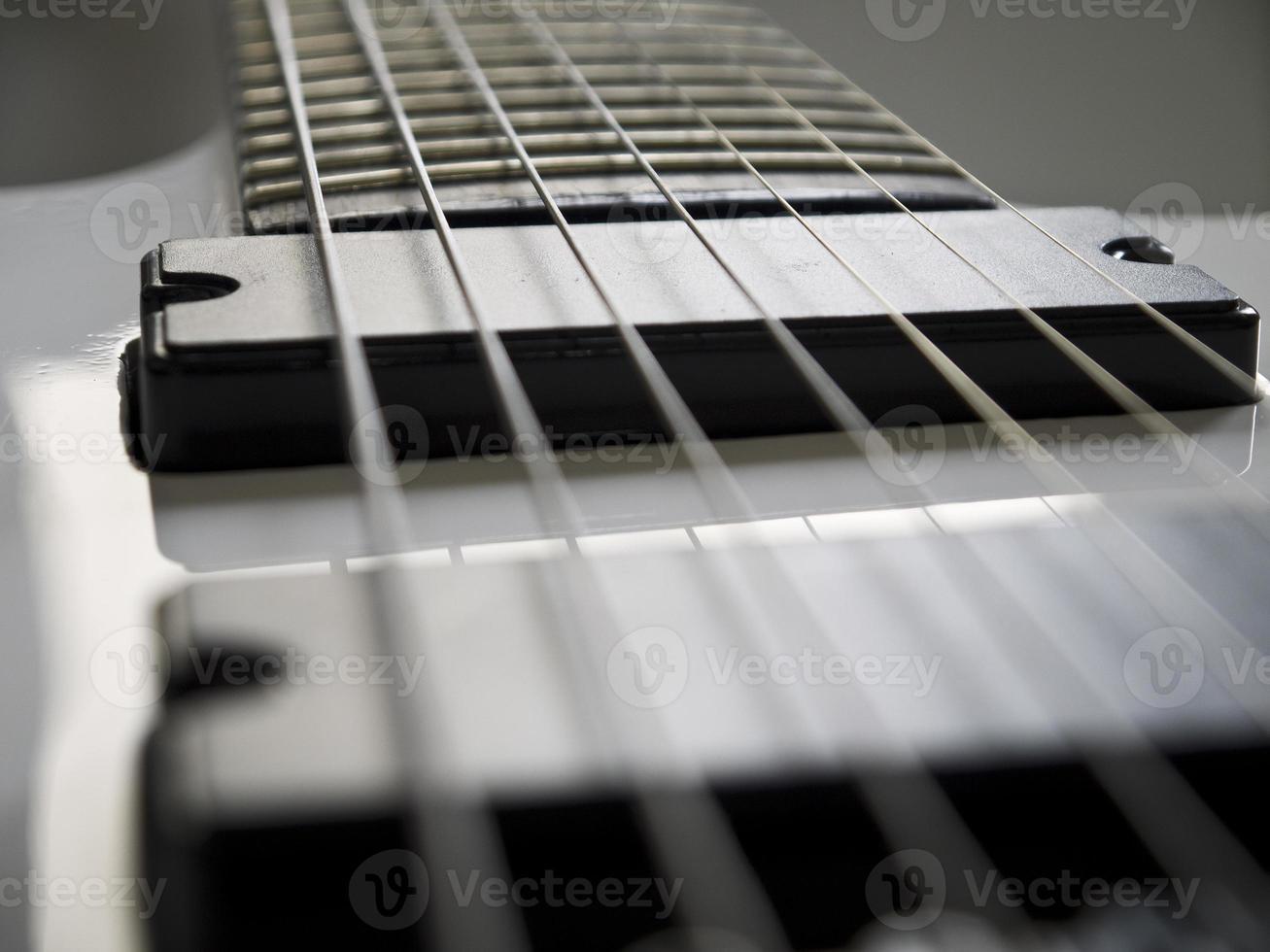 primo piano della chitarra. foto