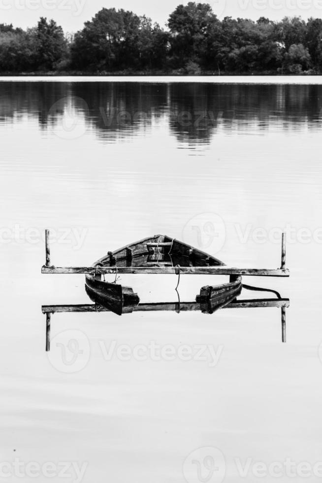 barca di legno. foto