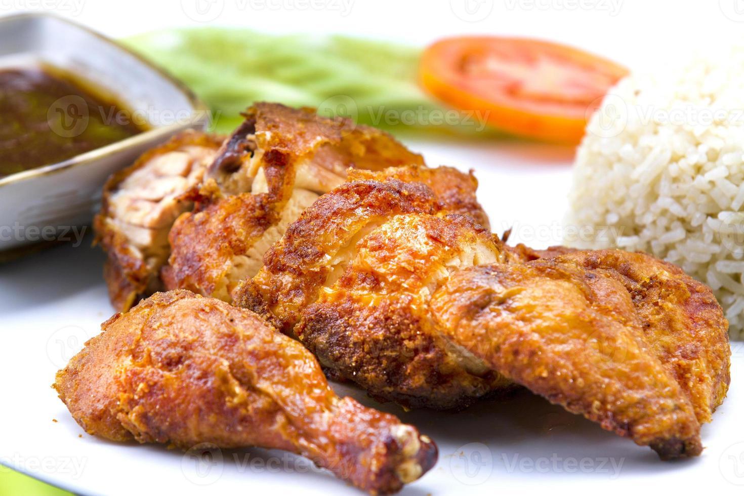 riso fritto di pollo foto