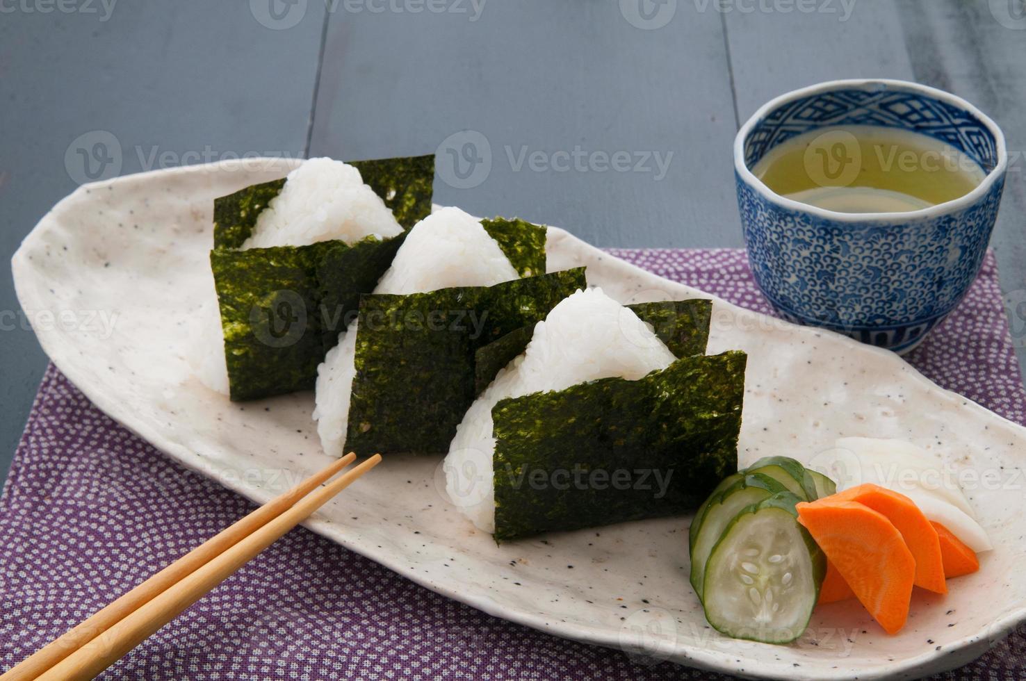 giapponese, cucina, onigiri foto