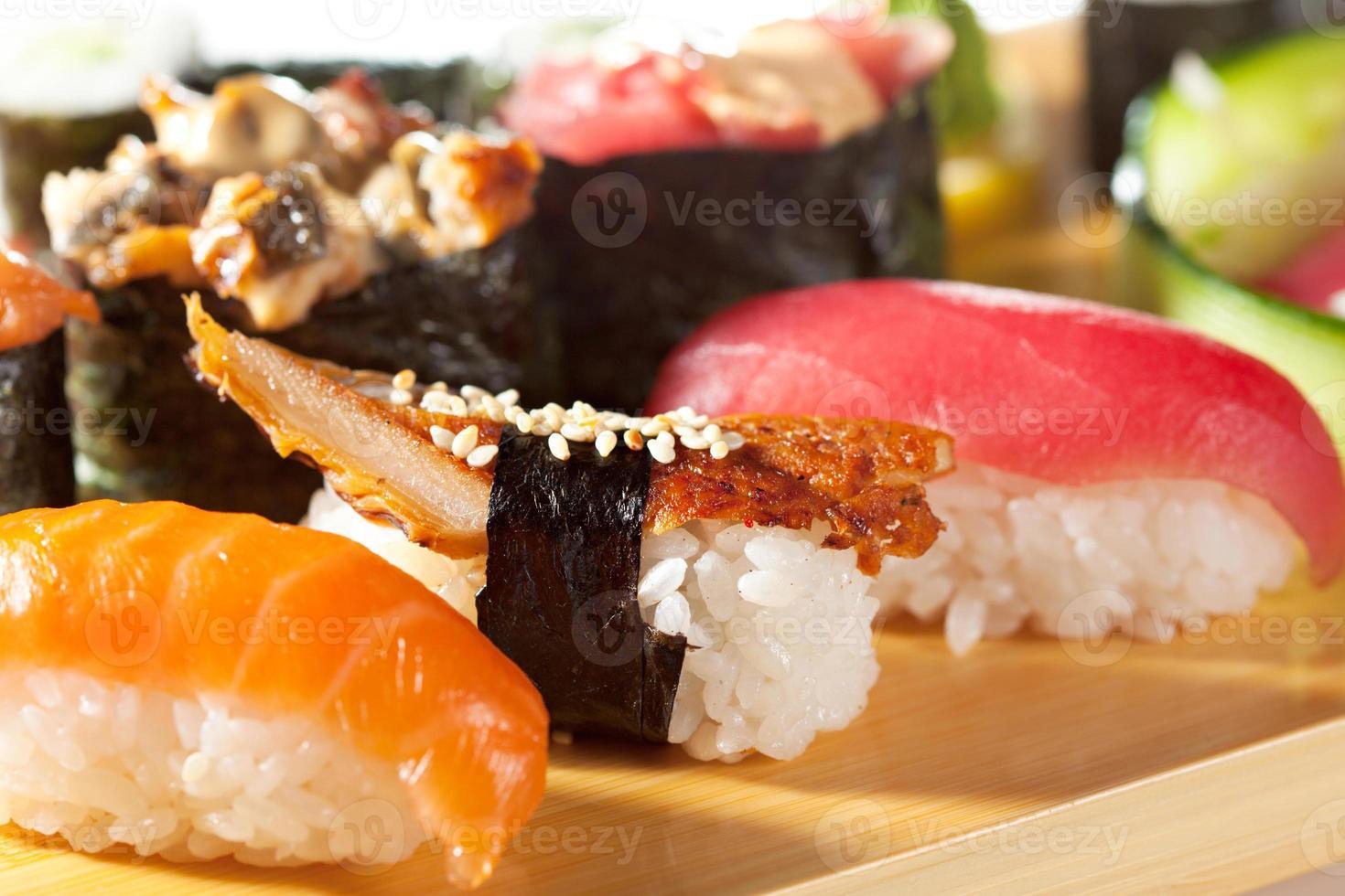 cucina giapponese - set di sushi foto