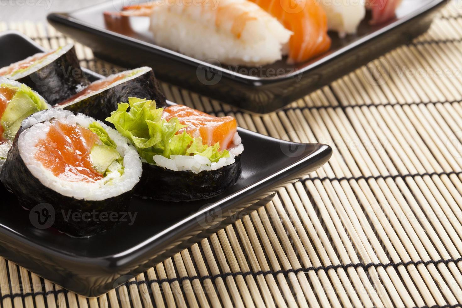 la composizione del sushi foto