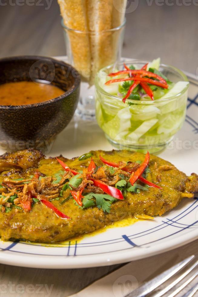 bistecca satay da vicino foto