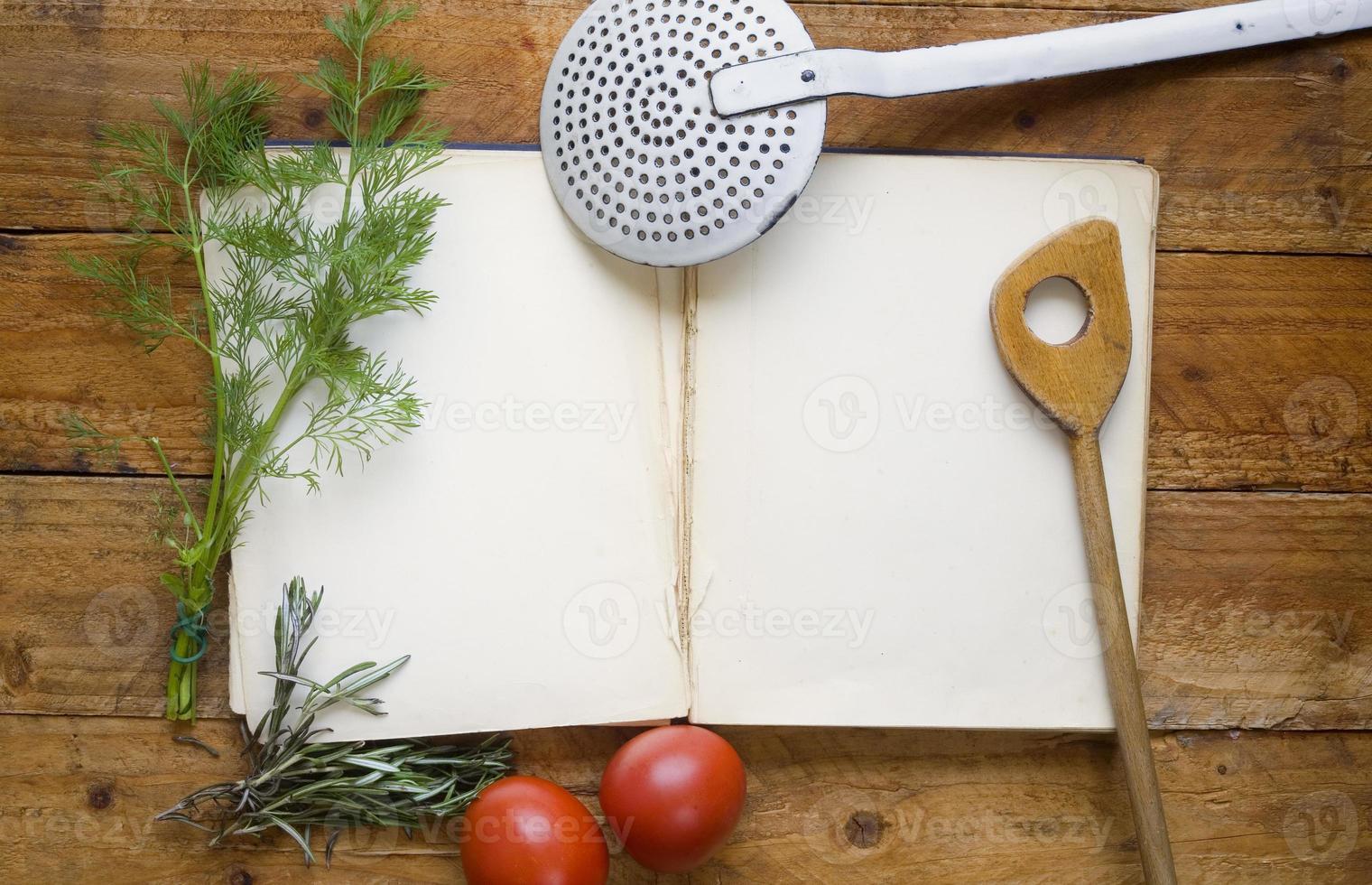 libro di cucina, ricettario foto