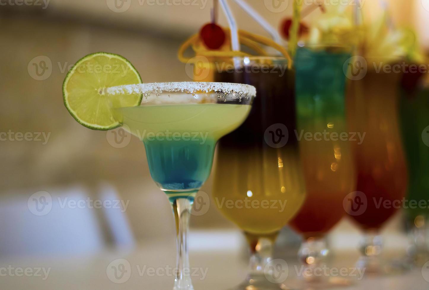 primo piano del bicchiere da cocktail foto